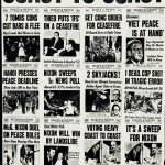 Newspaper collage from 1968
