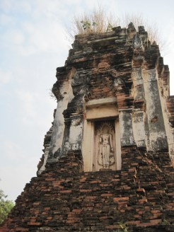 Ancient Wat Ruins in Lopburi, Thailand