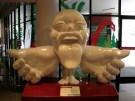 A Homunculus statue guards the front of the Thailand National Science Museum.