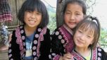 Hmong Tribe Village Children in Chiang Mai, Thailand