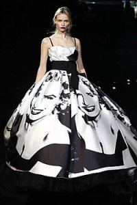 Dolce and Gabanna inspirited Marilyn print on the dress