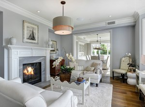 Gray-Living-Room.-Gray-Living-Room-with-white-sofas.-Gray-Living-Room-with-white-accents.-Lighting-is-the-Restoration-Hardware-Two-Tier-R