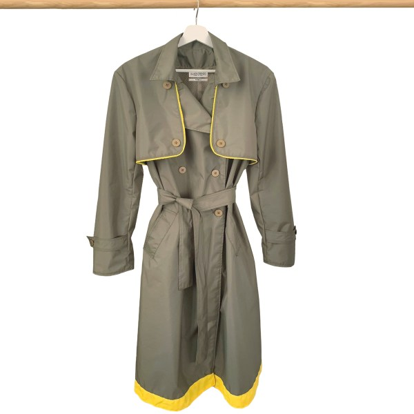 Best Upcycled waterproof rain coat trench coat made in Italy