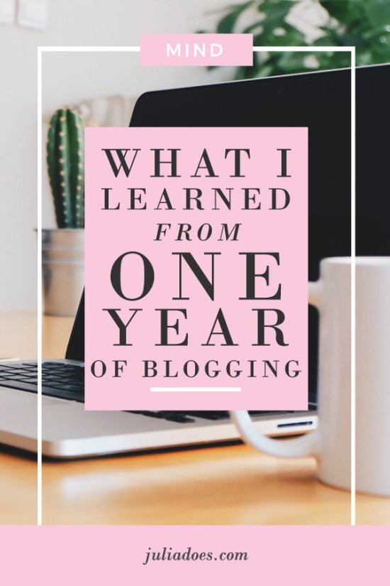 What I learned in One Year of Blogging