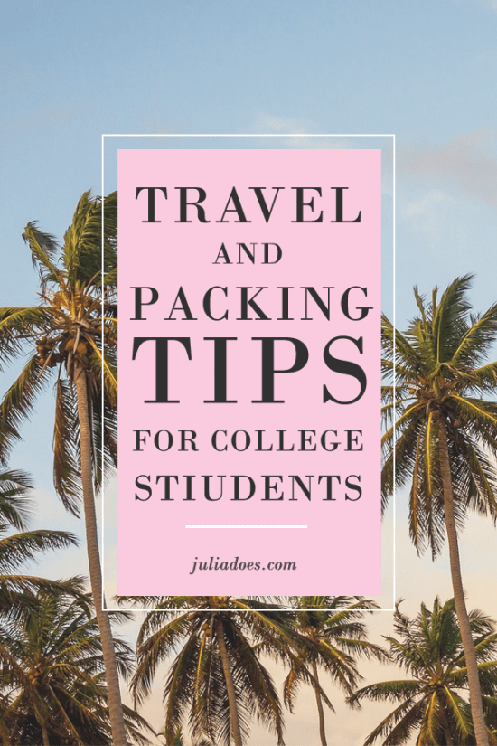 Travel Tips for College Students