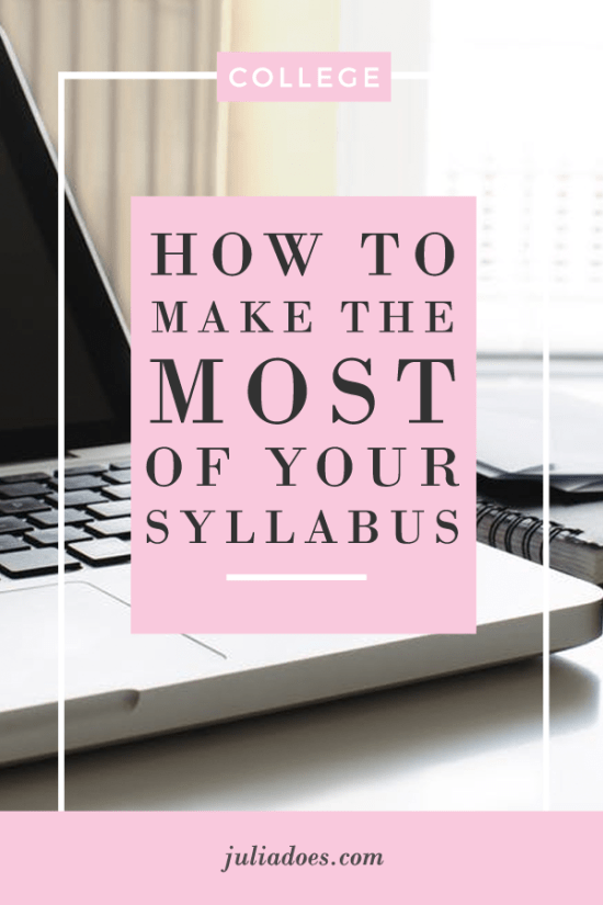 How to Read Your Syllabus
