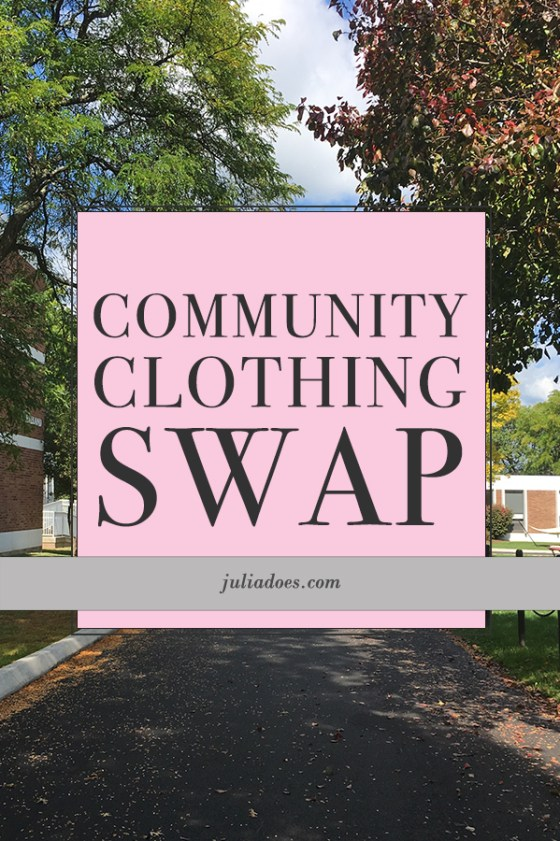 How I Held A Mini Clothing Swap