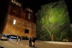 Patrick Blanc covered the side of Caixa Madrid in moss and grass, creating a vertical garden.