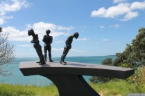 NZ Sculpture OnShore Nov 2012 (70) Chris Moore's 'In The Shadows'
