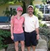 Me and my dad post-round