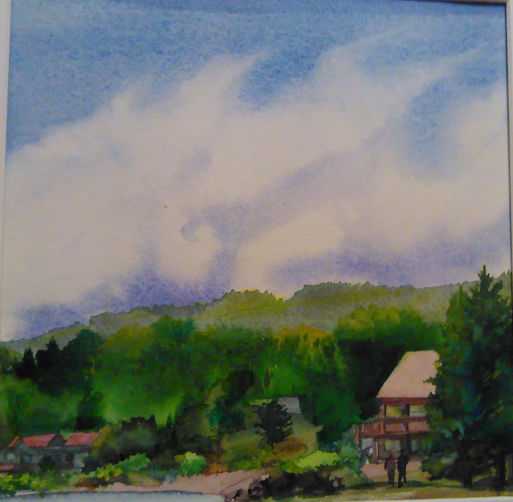 Clouds Over Grand Marais by Julia Jaakola