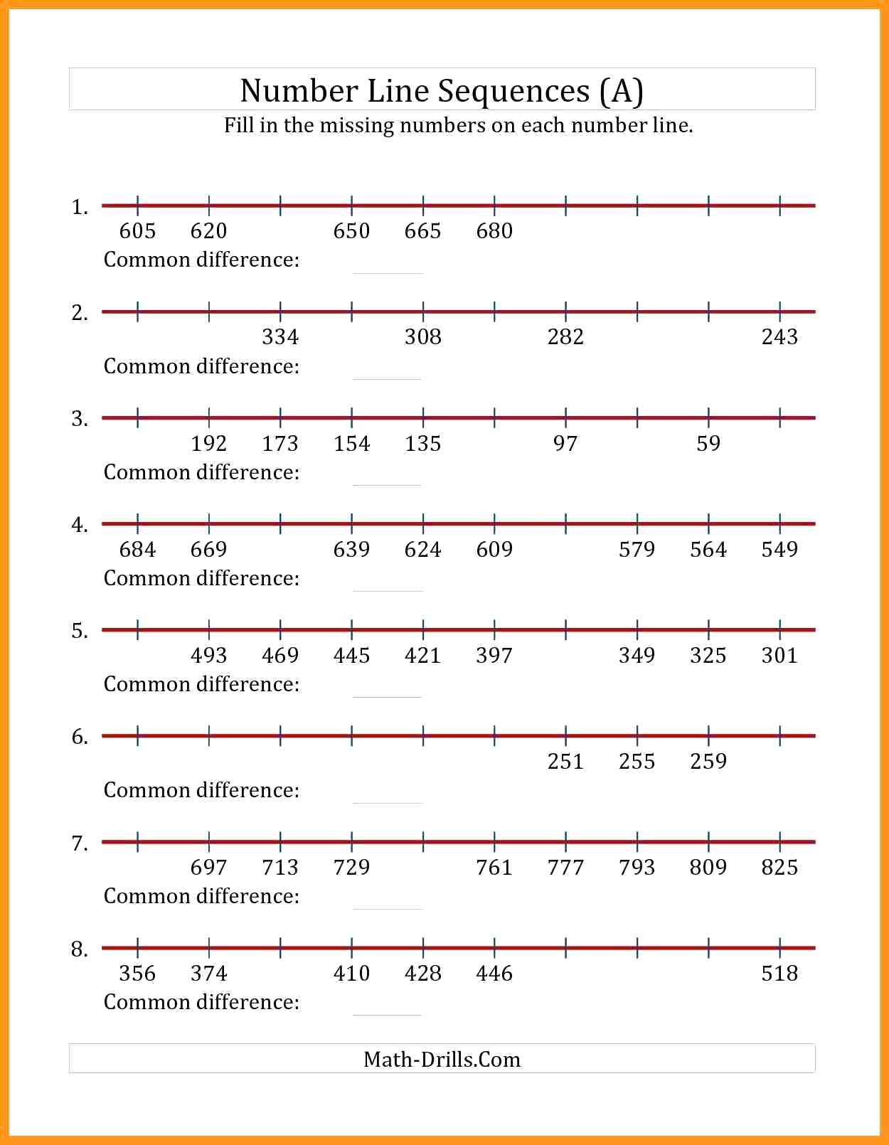 Equivalent Fractions Number Line Worksheet