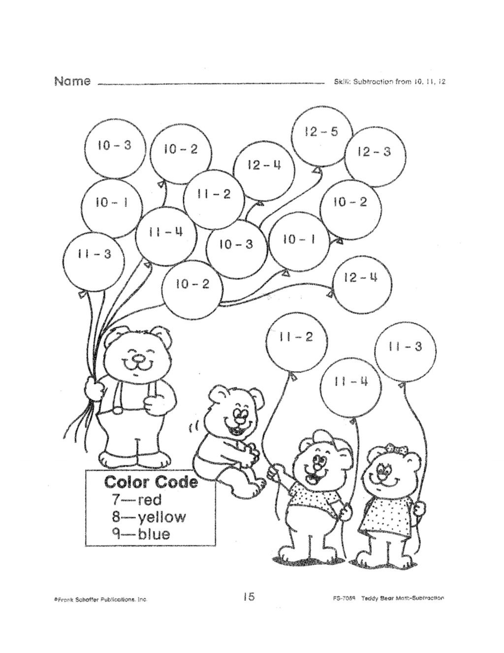 Subtraction With Regrouping Coloring Worksheets