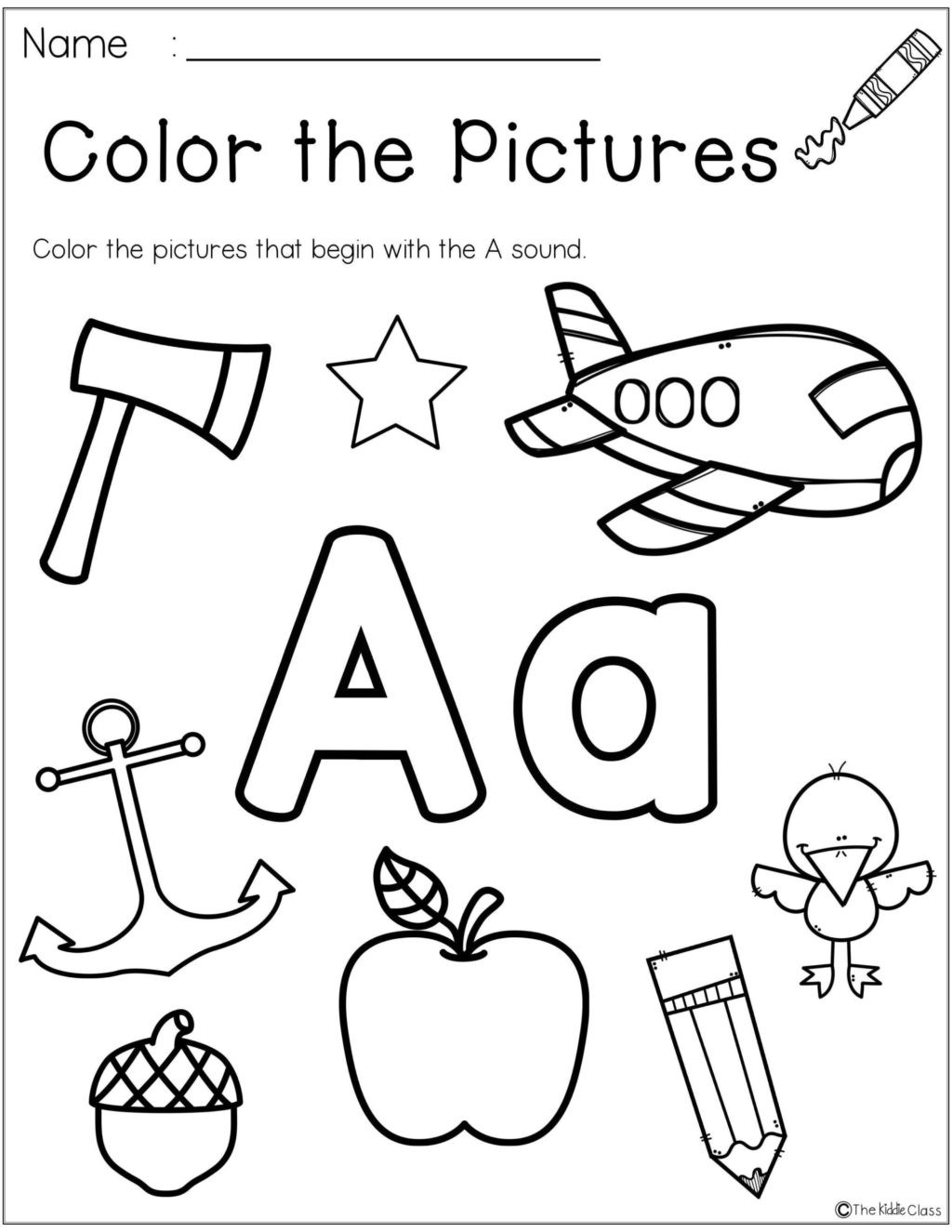 Letter Sound Worksheet Kindergarten