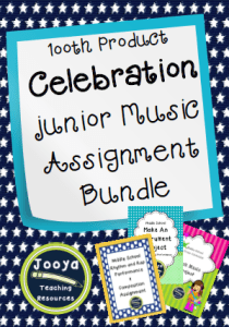 Junior Music Assignment Bundle
