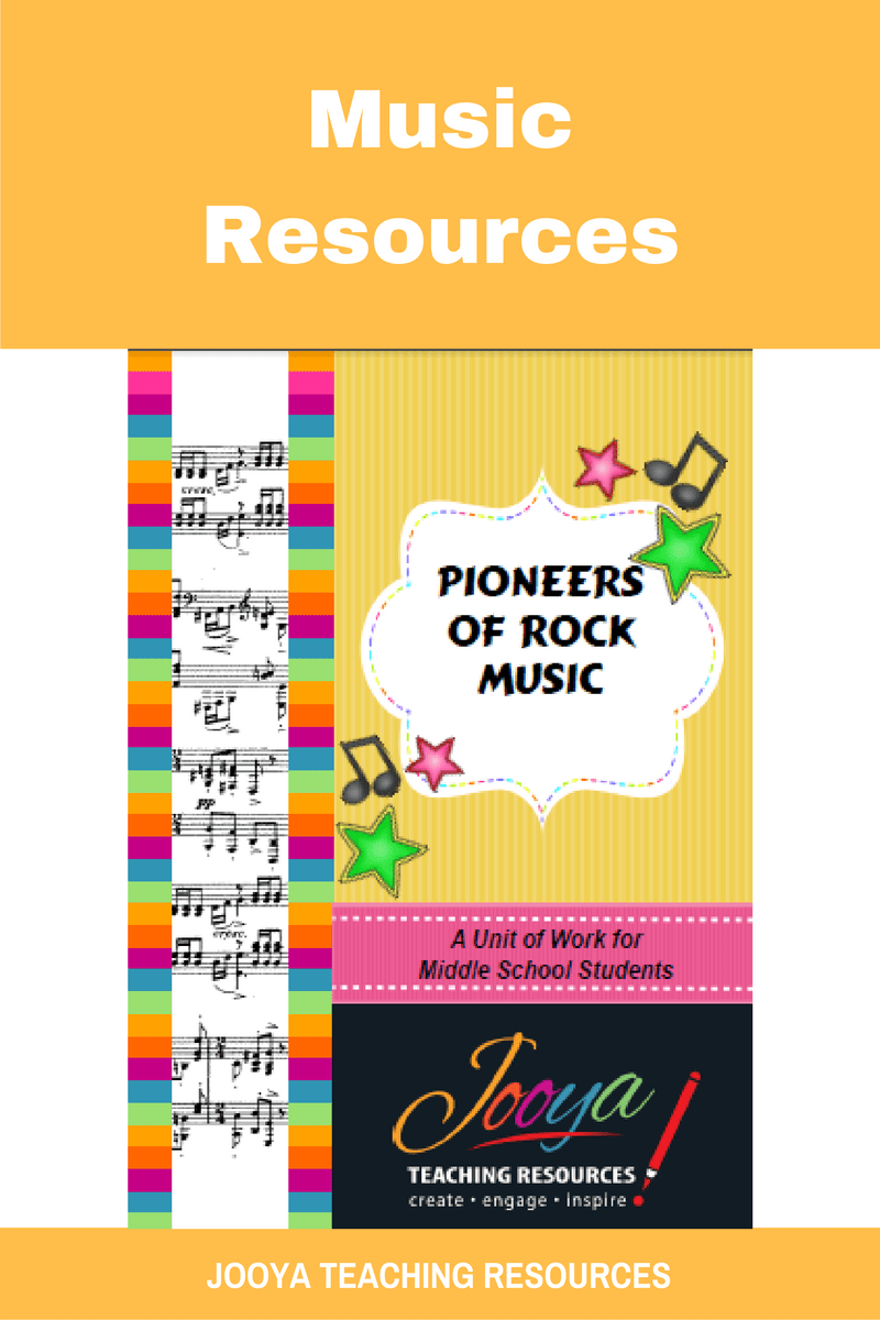 Pioneers of Rock Unit of Work for Middle School students from Jooya Teaching Resources. Includes the Super Six reading strategies, listening tasks, assignment and more. You just have to print and teach – all the planning done for you.