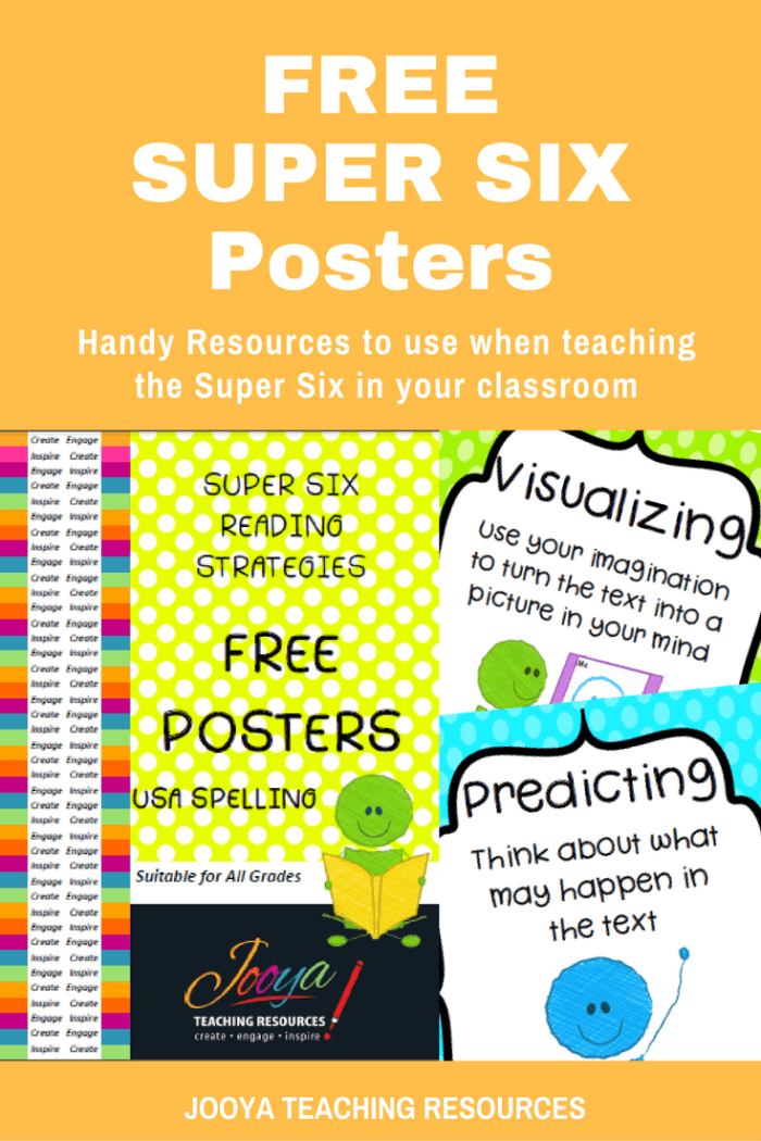 FREE Super Six Posters from Jooya Teaching Resources. Try these FREE colourful posters from Jooya Teaching Resources. These posters are perfect to display in your classroom. Look like a Super Six Super Star in your staff room!!!!