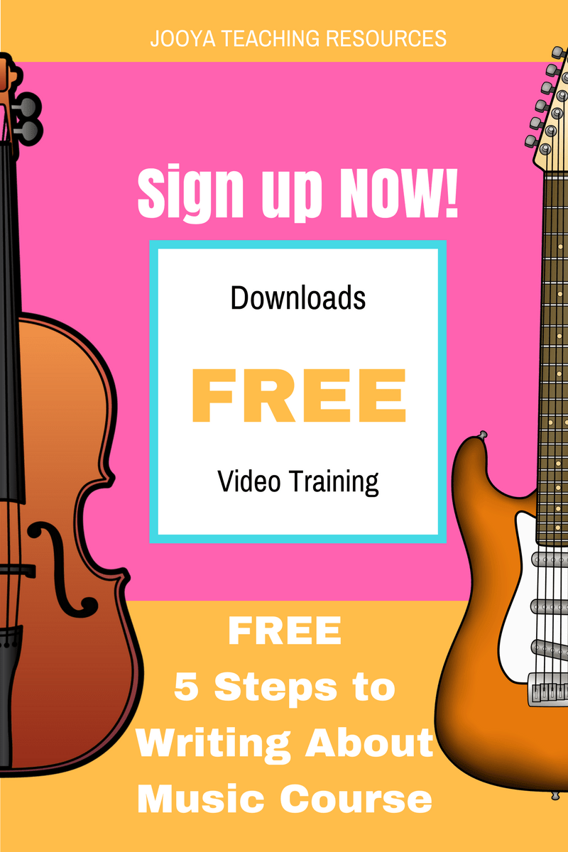 This FREE video tutorial course from Jooya Teaching Resources shows you the 5 Step Process for getting students to write critically and analytically about the Music that you study in class. Enrol now for free!