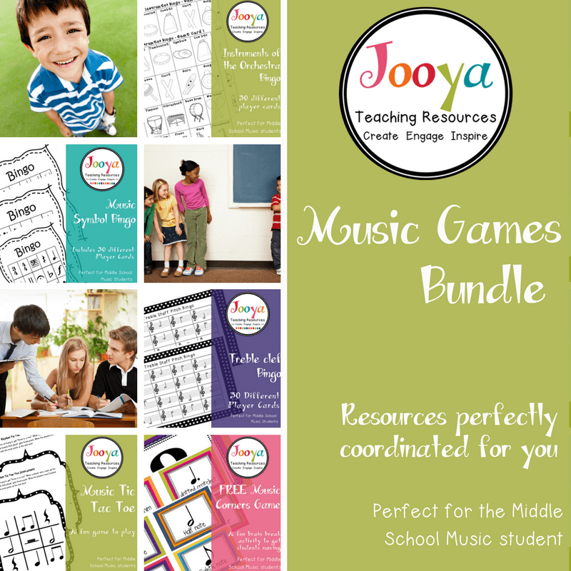Music Games Bundle from Jooya Teaching Resources