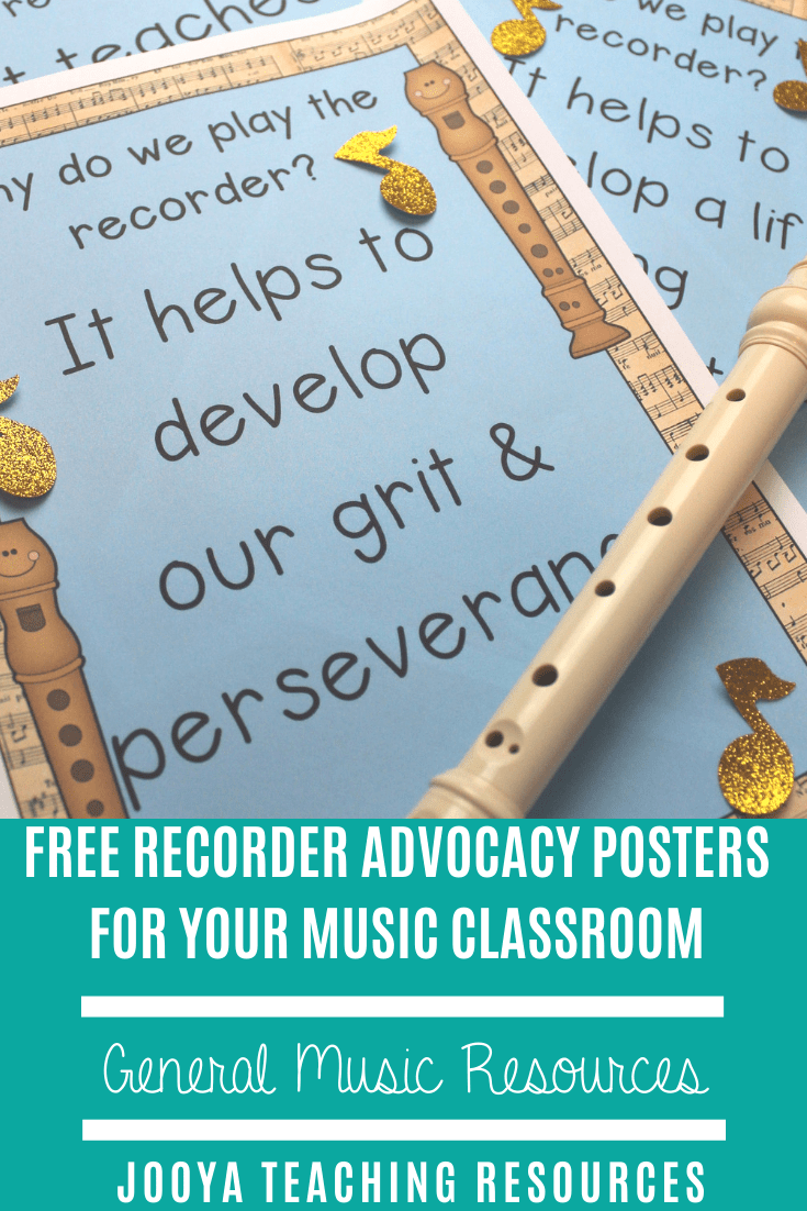 Grab yourself this set of free posters to decorate your music bulletin board and music classroom. These recorder advocacy posters will make a great display for your upper elementary and general music classroom.