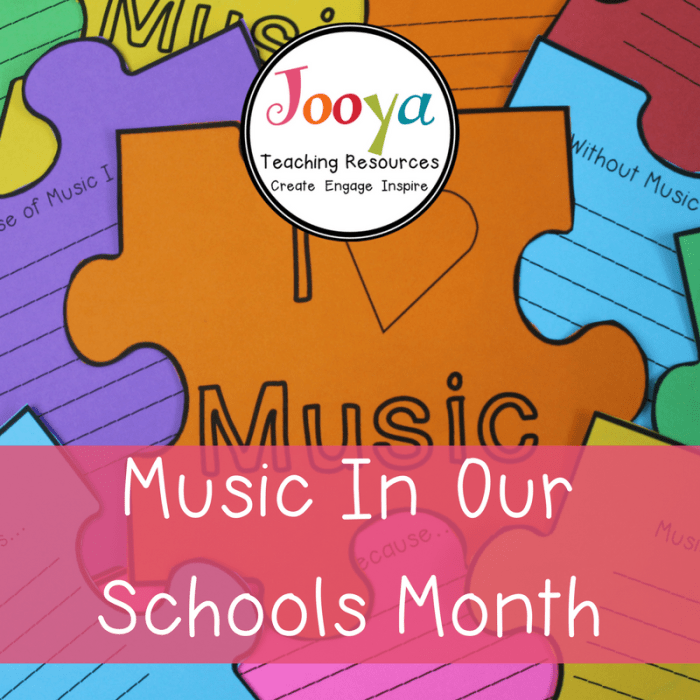 Music In Our Schools Month blog post from Jooya Teaching Resources