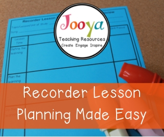 Grab your free Recorder Lesson Planner template here. This printable resource will help you plan well-structured recorder music lessons for any class that you teach. It is suitable for use in the upper elementary, middle school and general music classroom.