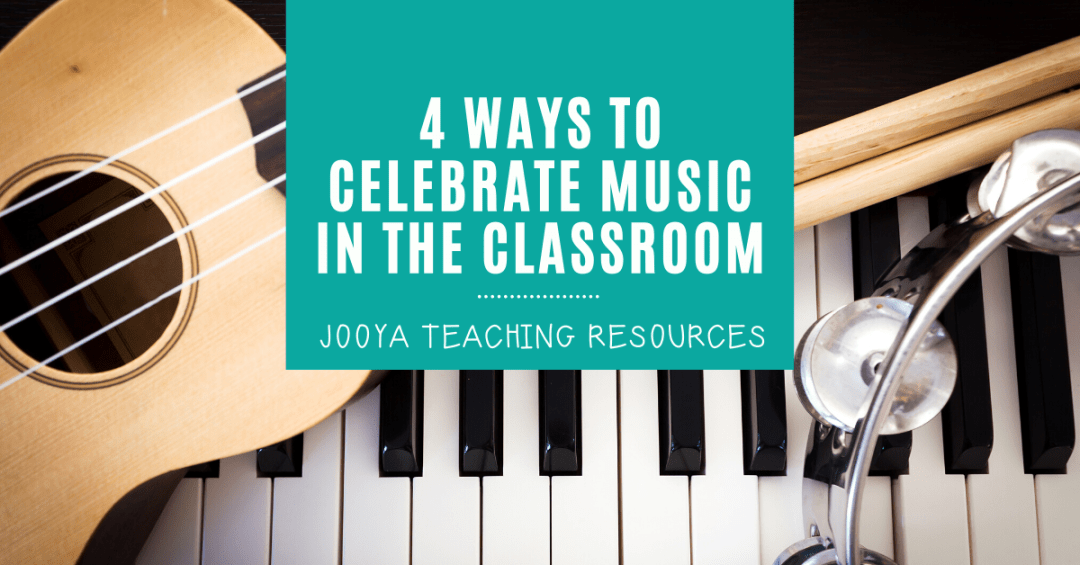 Find out how to celebrate Music In Our Schools Month in your middle school and general music classroom with these 4 great activities and lesson ideas. This collection of resources will make a great music classroom display. Try using the listening worksheets to boost music appreciation in your classroom, and your kids will enjoy the coloring pages to show off on display. #JooyaTeachingResources