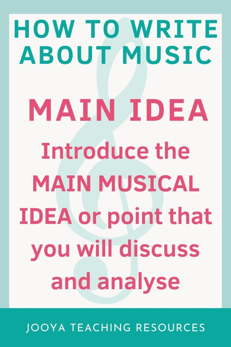 main idea image for how to write about music blog post
