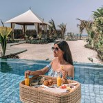 floating breakfast at Ritz-Carlton Al Hamra