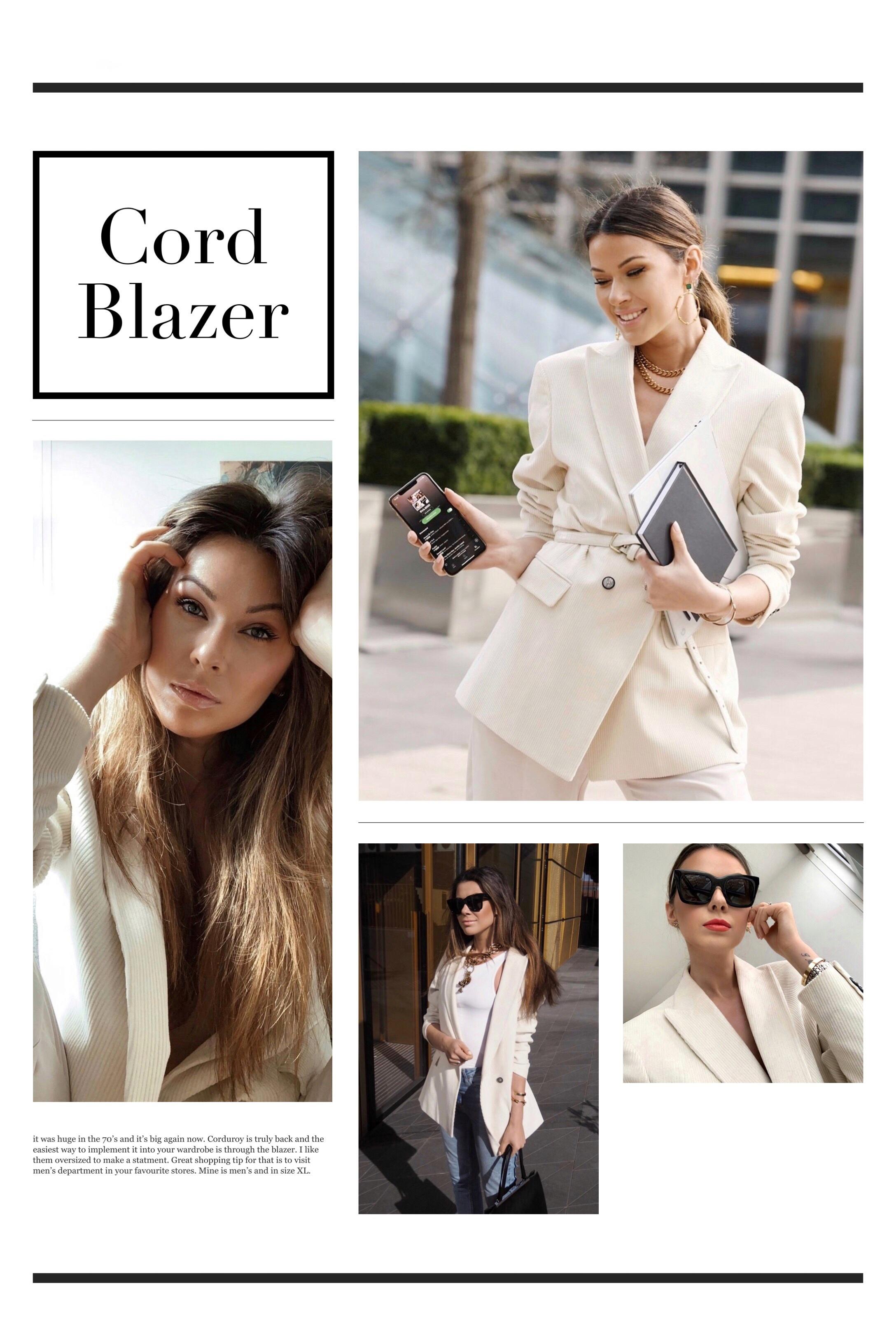 cord blazer/ Julia Lundin