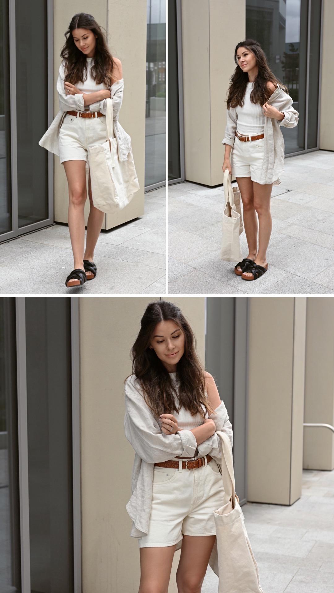 Julia Lundin white shorts