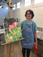 Patty with finished tulips