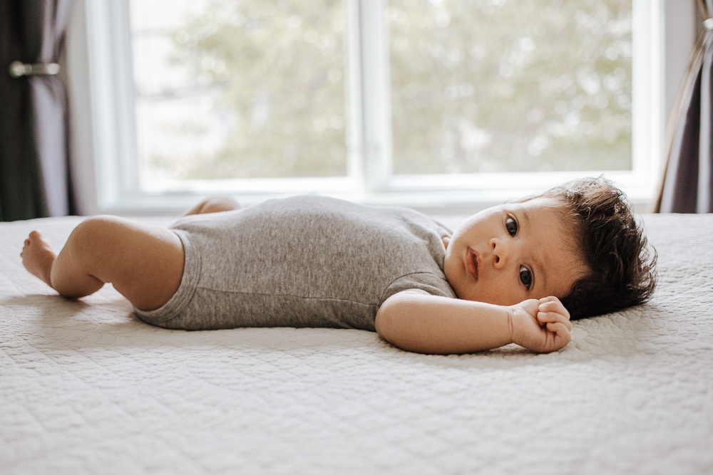 newborn lifestyle in home photo session Jersey City New Jersey