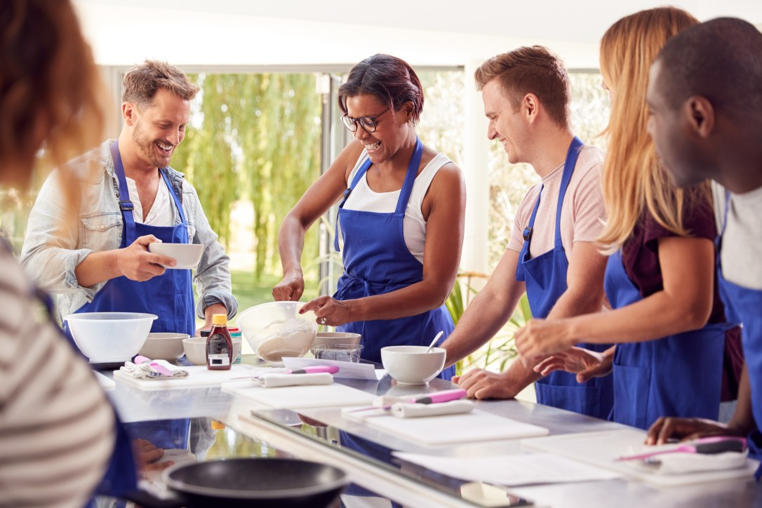 Experiences like cooking classes are fun gifts to give.