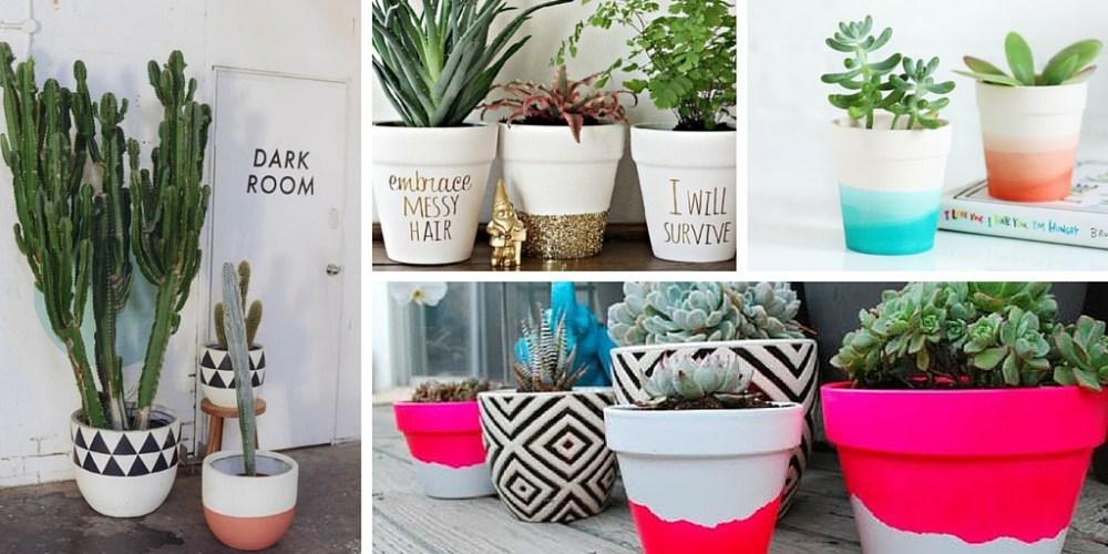 DIY - Neste vídeo, ensino a fazer vasos pintados cheios de estilo e super fácil. Além de outras inspirações e dicas para deixar sua casa linda.