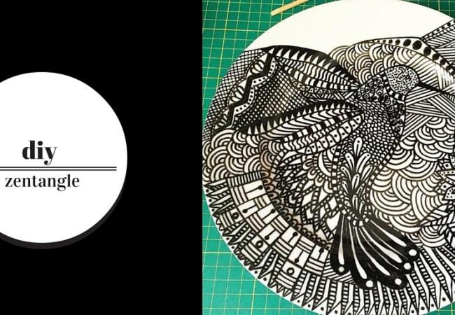 DIY – Zentangle em porcelana e vidro