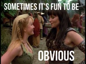 Xena Meme obvious