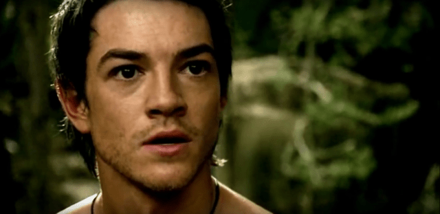 Shirtless Richard Cypher (actor Craig Horner) learning to use the sword of truth and his instincts.