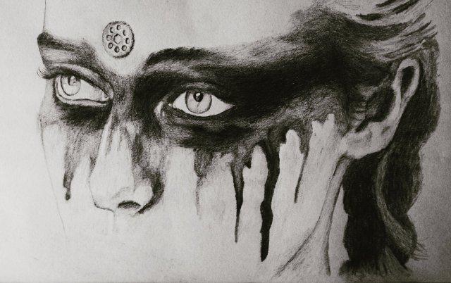 lexa fanart drawing eyes heda