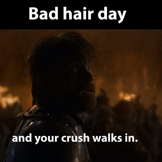 Jaime Lannister - Bad hair day.
