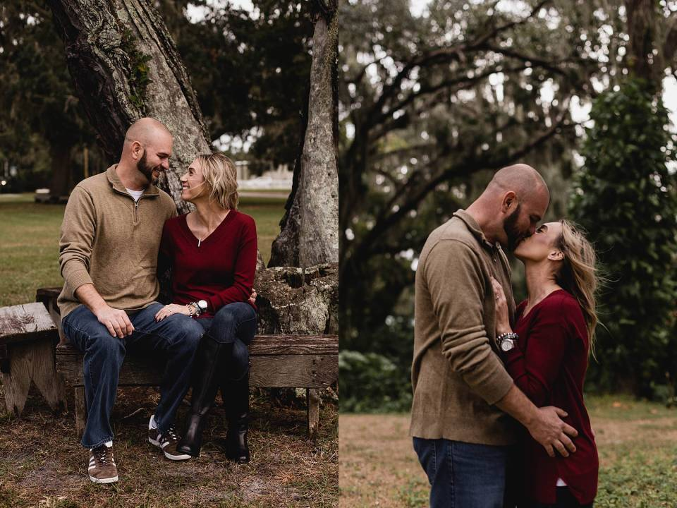 florida engagement session at gamble mansion park
