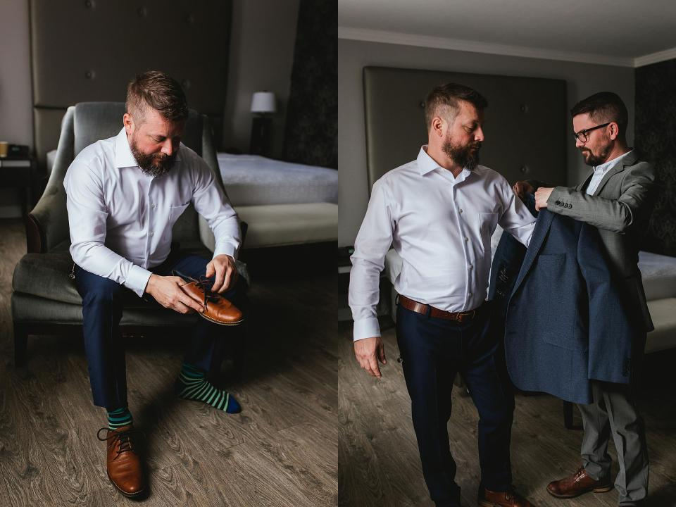 Omaha Wedding; Groom getting ready; Photographed by Juliana Montane Photography