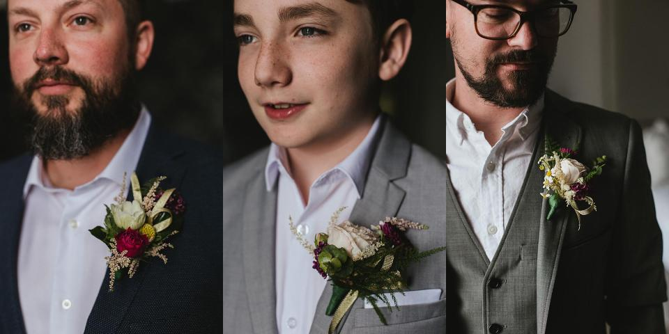 Omaha Wedding; Boutonnière Details; Photographed by Juliana Montane Photography