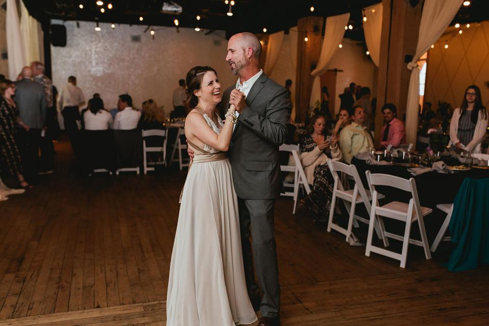 Omaha Wedding; Reception at Vintage Ballroom in the Old Market; Photographed by Juliana Montane Photography