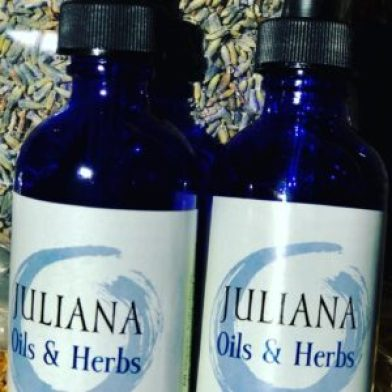 Juliana Oils & Herbs bottles.