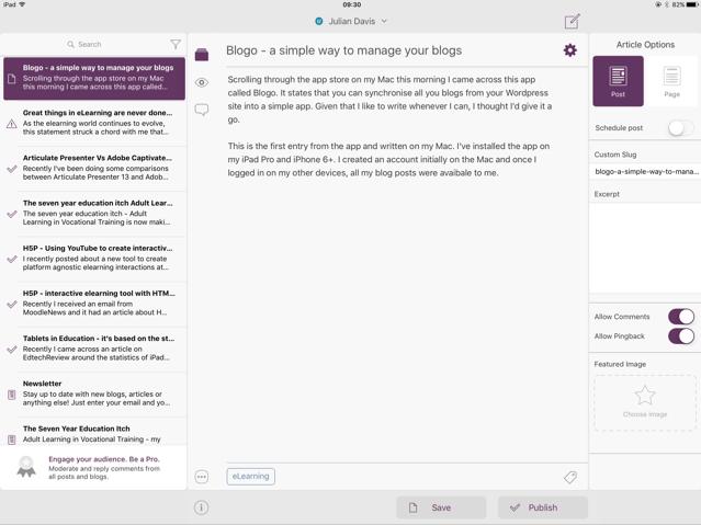 iPad Blogo