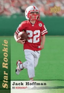 Jack Hoffman Star Rookie Trading Card by the Upper Deck Company