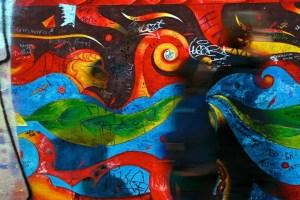 Ghostpeople of Berlin's East Side Gallery
