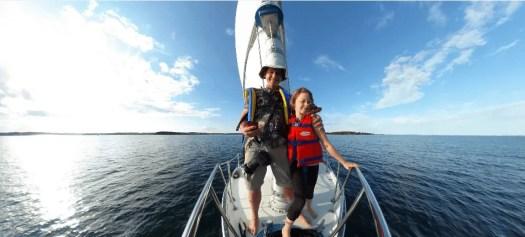 Sailing on the open sea....