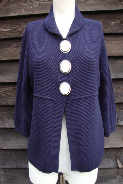 Goat Library navy knitted cardigan/coat